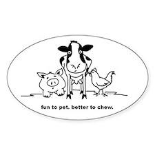 Fun to Pet Oval Sticker