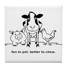 Fun to Pet Tile Coaster
