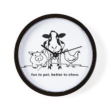 Fun to Pet Wall Clock