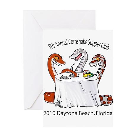 Cornsnake Supper Club 2010 Greeting Card