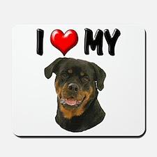 I Love My Rottweiler Mousepad