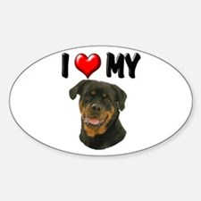 I Love My Rottweiler Sticker (Oval)