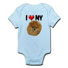 I Love My Pomeranian Infant Bodysuit