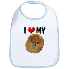 I Love My Pomeranian Bib