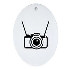 Camera Ornament (Oval)