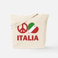 Peace Love Italy Tote Bag