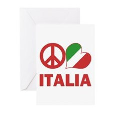 Peace Love Italy Greeting Cards (Pk of 20)