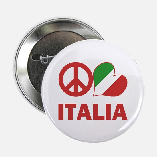 "Peace Love Italy 2.25"" Button"