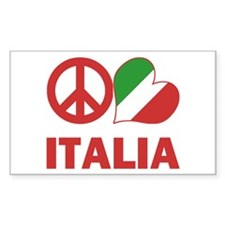Peace Love Italy Decal