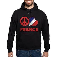 Peace Love France Hoodie