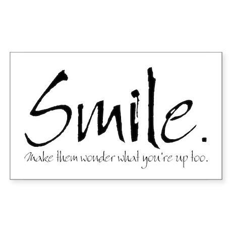 Smile Rectangle Sticker