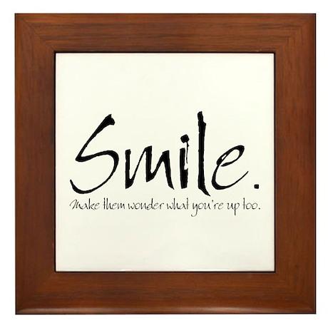 Smile Framed Tile