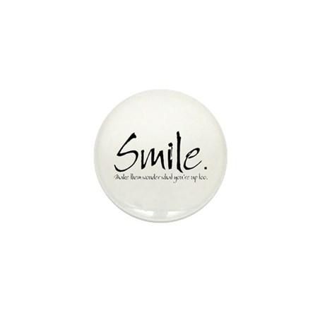 Smile Mini Button (10 pack)