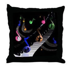 Musical Universe Throw Pillow