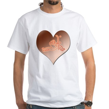 Heartminder (copper) White T-Shirt