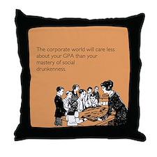 Social Drunkenness Throw Pillow
