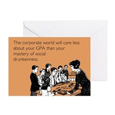 Social Drunkenness Greeting Cards (Pk of 10)