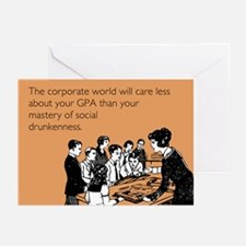 Social Drunkenness Greeting Cards (Pk of 10)