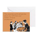 Social Drunkenness Greeting Cards (Pk of 20)