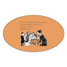 Social Drunkenness Sticker (Oval)