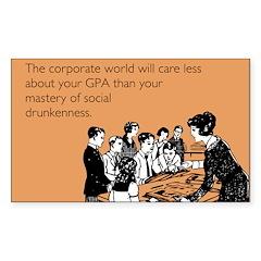 Social Drunkenness Decal