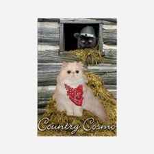 Country Cosmo Cat Rectangle Magnet