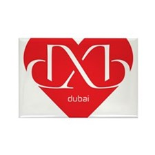 Heart Dubai Rectangle Magnet