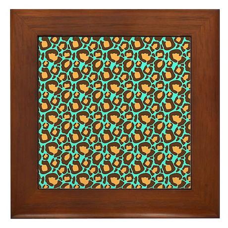 Animal Print Framed Tile