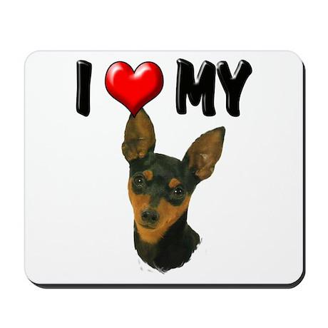 I Love My Min Pin Mousepad