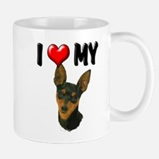 I Love My Min Pin Mug