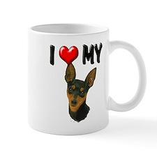 I Love My Min Pin Mug