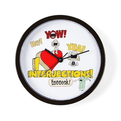 I Heart Interjections Wall Clock