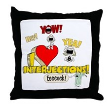 I Heart Interjections Throw Pillow