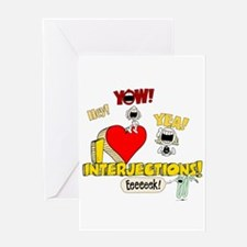 I Heart Interjections Greeting Card