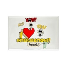 I Heart Interjections Rectangle Magnet