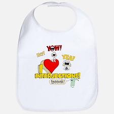 I Heart Interjections Bib