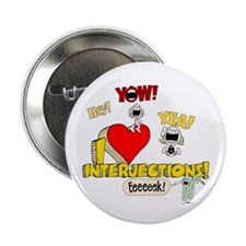 """I Heart Interjections 2.25"""" Button (100 pack)"""