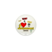 I Heart Interjections Mini Button (10 pack)
