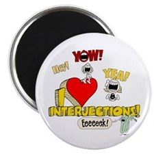 """I Heart Interjections 2.25"""" Magnet (10 pack)"""
