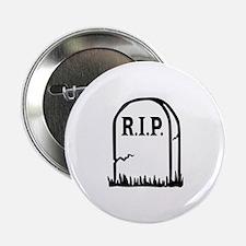 """R.I.P. - Gravestone 2.25"""" Button"""