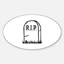 R.I.P. - Gravestone Decal