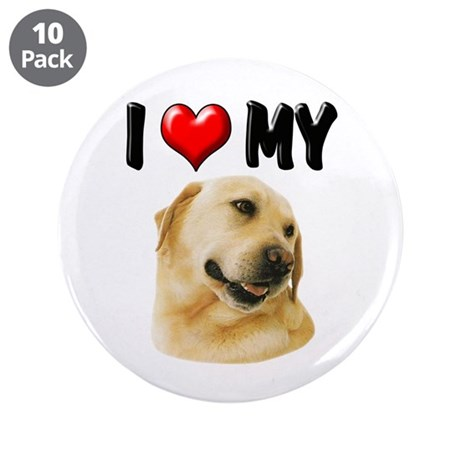 """I Love My Lab 3.5"""" Button (10 pack)"""