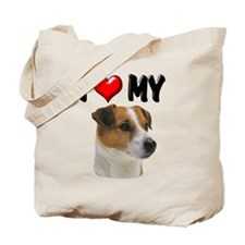 I Love My Jack Russell Tote Bag