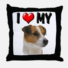 I Love My Jack Russell Throw Pillow
