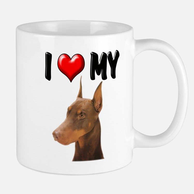 I Love My Doberman Mug