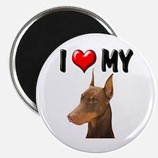 "I Love My Doberman 2.25"" Magnet (100 pack)"