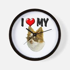 I Love My Chihuahua Wall Clock