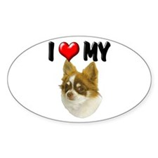 I Love My Chihuahua Decal