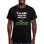 horseshit smell good Men's Fitted T-Shirt (dark)