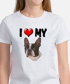 I Love My Boston Terrier Tee